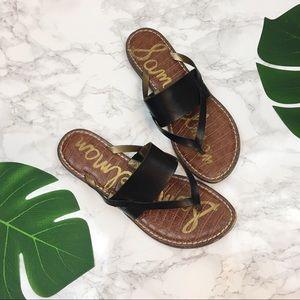 Sam Edelman Kell sandals black leather size 7